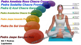 Pedras 7 Chakras kit 7 Cores dos Chacras Kundalini Stone Chakras Cabochão