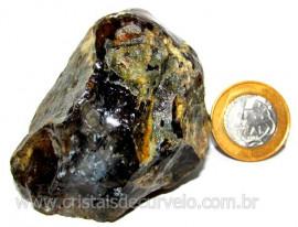 Agata Negra Pedra Bruta Natural Para Colecionador Cod AB7691