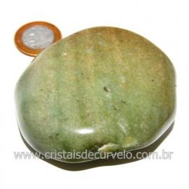 Massageador De Seixo Pedra Quartzo Verde Natural Cod 123843