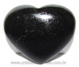 Coraçao Quartzo Preto Quartzito Negro Natural Cod 115339