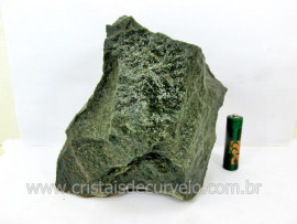 Basalto Verde Bruto Pedra Pra Colecionador ou Estudante de Minerais Geologia Cod 2.082