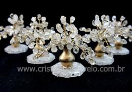 04 Arvore Felicidade Pedra Quartzo Cristal Atacado REFF AJ9306