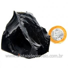 Obsidiana Negra Mineral Vulcanico Pedra Natural Cod 123967