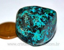 Shattuckite Pedra Natural Raro Ideal Esoterismo Colecionador Rolado Cod 25.1