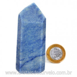 Ponta Quartzo Azul Pedra Natural Gerador Sextavado Cod 127771