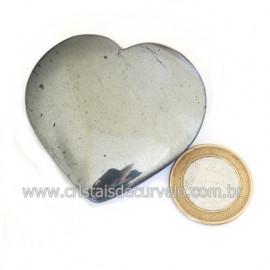 Coração Hematita Pedra Natural Lapidação Manual Cod 121739