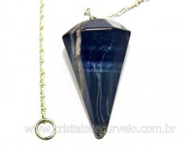 Pendulo OLHO DE FALCÃO Pedra Natural Lapidação Facetado Brinde Corrente