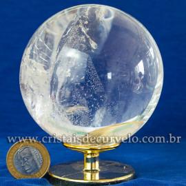 Bola de Cristal Pedra Extra Esfera Quartzo Transparente 112874