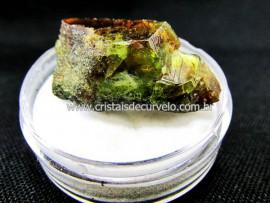 Esfenio Titanita Verde Mineral Natural No Estojo Para Colecionador Exigente Cod ET50.3
