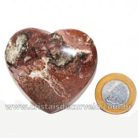Coração Pedra Quartzo Jiboia Natural Lapidação manual Cod 126889