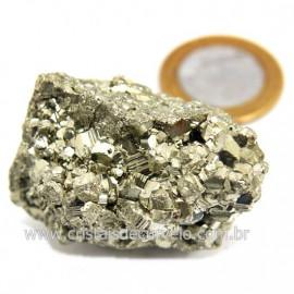 Pirita Peruana Pedra Extra Com Belos Cubo Mineral Cod 124222