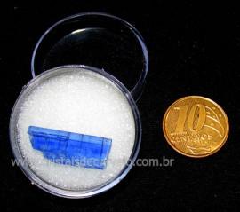 Cianita Azul Canudo No Estojo Natural de Garimpo Cod CA2945