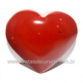 Coraçao Jaspe Vermelho Pedra Natural de Garimpo Cod 118270