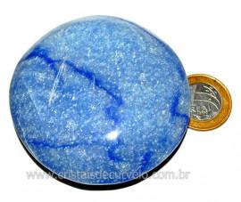 Massageador Disco Quartzo Azul Pedra Natural Cod 103313