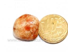 1 Pedra Do Sol Gold Stone Rolado Natural Garimpo Reff PG1379