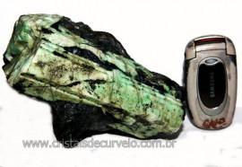 Esmeralda Canudo Incrustado Xisto Pedra Natural Cod CE6255