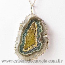 Pingente Flor de Ametista Pedra Natural Garra Prateado 112922