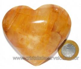 Coração Hematoide Amarelo Natural Presente Ideal Cod 116024