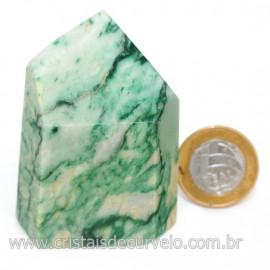 Peso de Papel Pedra Jadeita Verde Para Escritório Cod 126572