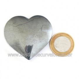 Coração Hematita Pedra Natural Lapidação Manual Cod 121883