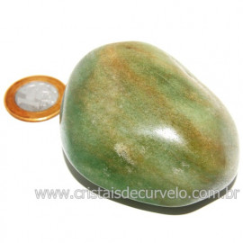 Massageador De Seixo Pedra Quartzo Verde Natural Cod 123846