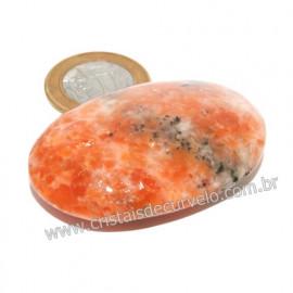 Sabonete Massageador Calcita Laranja Pedra Natural 121151