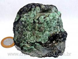 Esmeralda Bahia Canudo Incrustado no Xisto Pedra de Colecionador Cod 380.2