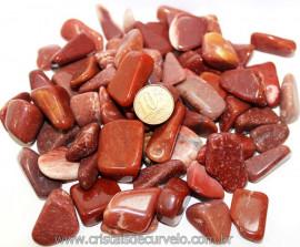 1kg Cristal Q.  Vermelho Polido Rolado T Médio Reff 111278