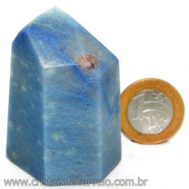 Ponta Quartzo Azul Pedra Natural Gerador Sextavado Cod 113479