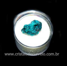 Crisocola Bruto Lasca No Estojo Mineral Natural Cod 118507