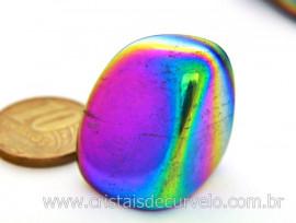 Crystal Aura Titanium ou Aura Arco-Íris Pedra Rolada Unidade Tamanho G REFF 88.7