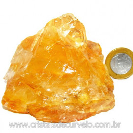 Hematoide Amarelo Pedra Bruto Quartzo Natural Cod 114652