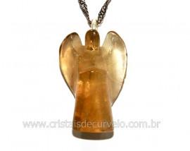 Pingente Anjinho Citrino Pedra Natural Prata 950 REFF PA3133
