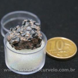 Obsidiana Flocos de Neve Pedra Natural Amostra Estojo Cod 126968