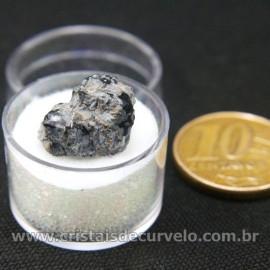Obsidiana Flocos de Neve Pedra Natural Amostra Estojo Cod 126972