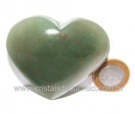 Coração Quartzo Verde Natural Comum Qualidade Cod 119835