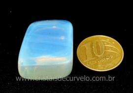 01 Pedra da Lua Opalina Rolado Para Esoterismo Colecionador Reff 24.7
