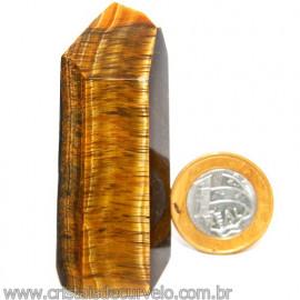 Ponta Olho de Tigre Pedra Extra Natural de Garimpo Cod 113434