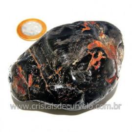 Massageador De Seixo Pedra Onix Preto Natural Cod 123855