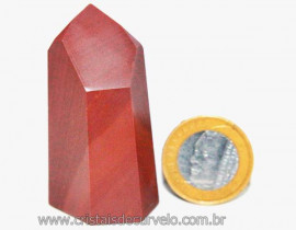 Ponta Lapidado Dolomita Vermelha Pedra Natural Cod PD9883