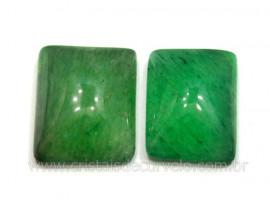 Par Retangulo Quartzo Verde Pedra Pra Montagem Reff RB5511