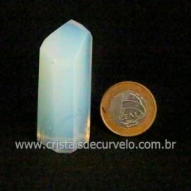 Ponta Pedra da Lua Opalina Lapidação Sextavada Cod 123069