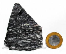 Jaspe Net Pedra de Garimpo Com Listras Naturais Cod JN7402