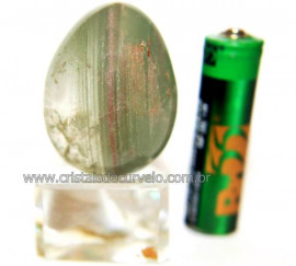 Ovo Clorita Verde Pedra Natural Para Colecionador Cod 110585