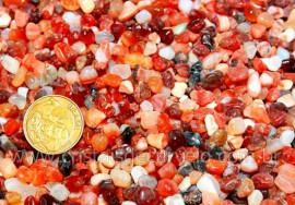 Agata Cornalina Miudo Pedra Rolado Pacotinho 20 Gr Mineral Natural