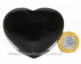 Coração Quartzo Preto Quartzito Negro Pedra Natural Cod CP2219