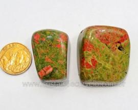 02 Unakita Rolado Pedra Natural de Garimpo Esoterismo Colecionador Ref 24.7