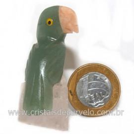 Periquito Pedra Quartzo verde Passaro Base Mineral Natural cod 128276