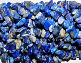 Fio Lapis Lazuli Pedra Rolada Extra Furado Pedra Natural Rolada e Furado 90cm