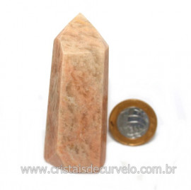 Ponta Amazonita Rosa Pedra Da Família Feldspato Cod 121437